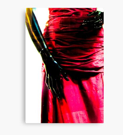 Just hands and a beautiful red dress Canvas Print