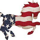 Americana Horse by CheriesArt