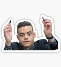 Rami Malek Overwhelmed Sticker