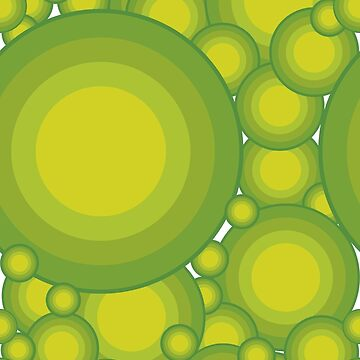 Grüne Kreise im 70er Jahre Stil überlappend von pASob-dESIGN