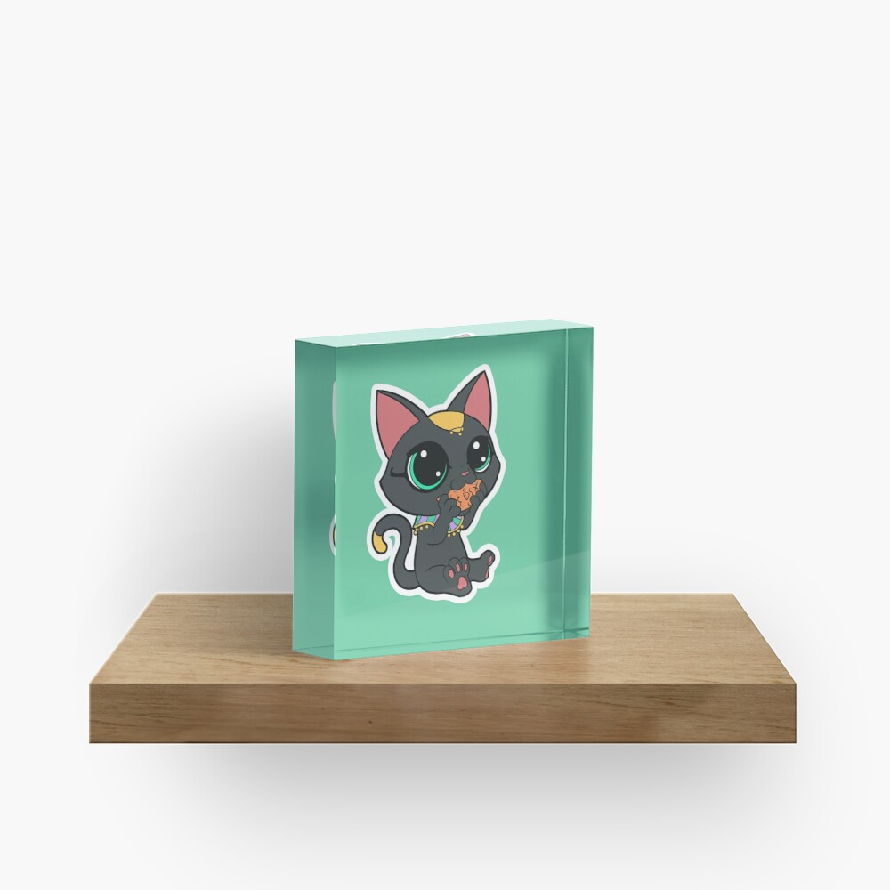 Chibi Bast - Alternate Colours Acrylic Block