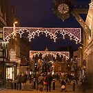 Christmas illuminations, High Street, Winchester, southern England by Philip Mitchell