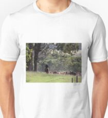 Taking the cattle back to the paddock Unisex T-Shirt