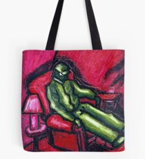 The Red chair (Apprehension Red) Tote Bag