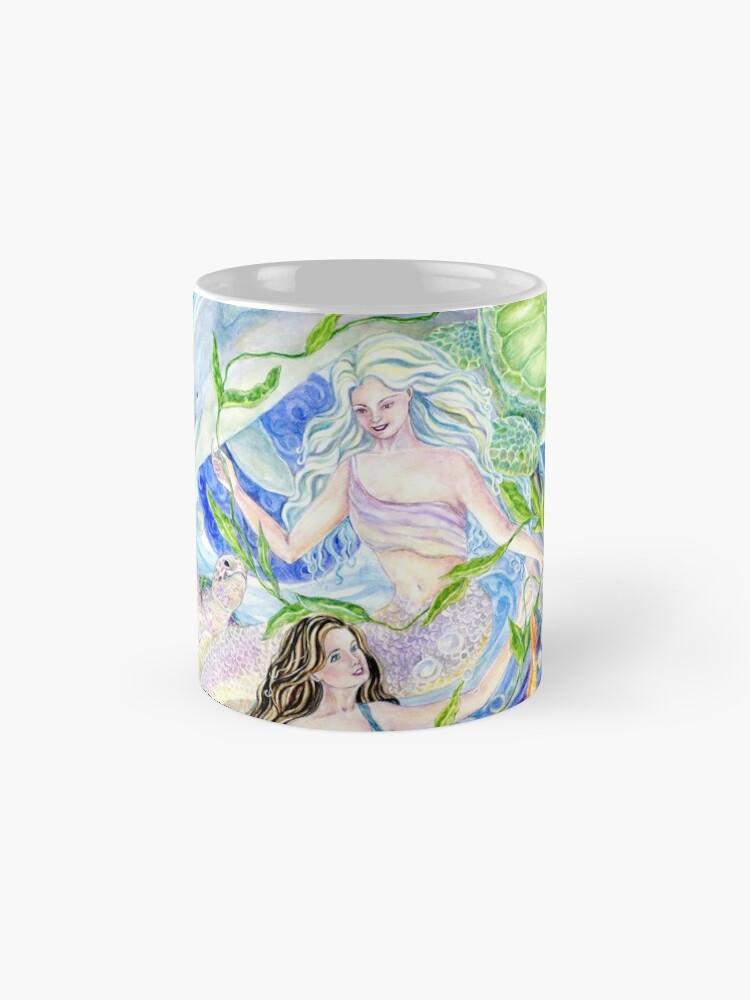 Alternative Ansicht von Yin Yang Meerjungfrauen Tasse