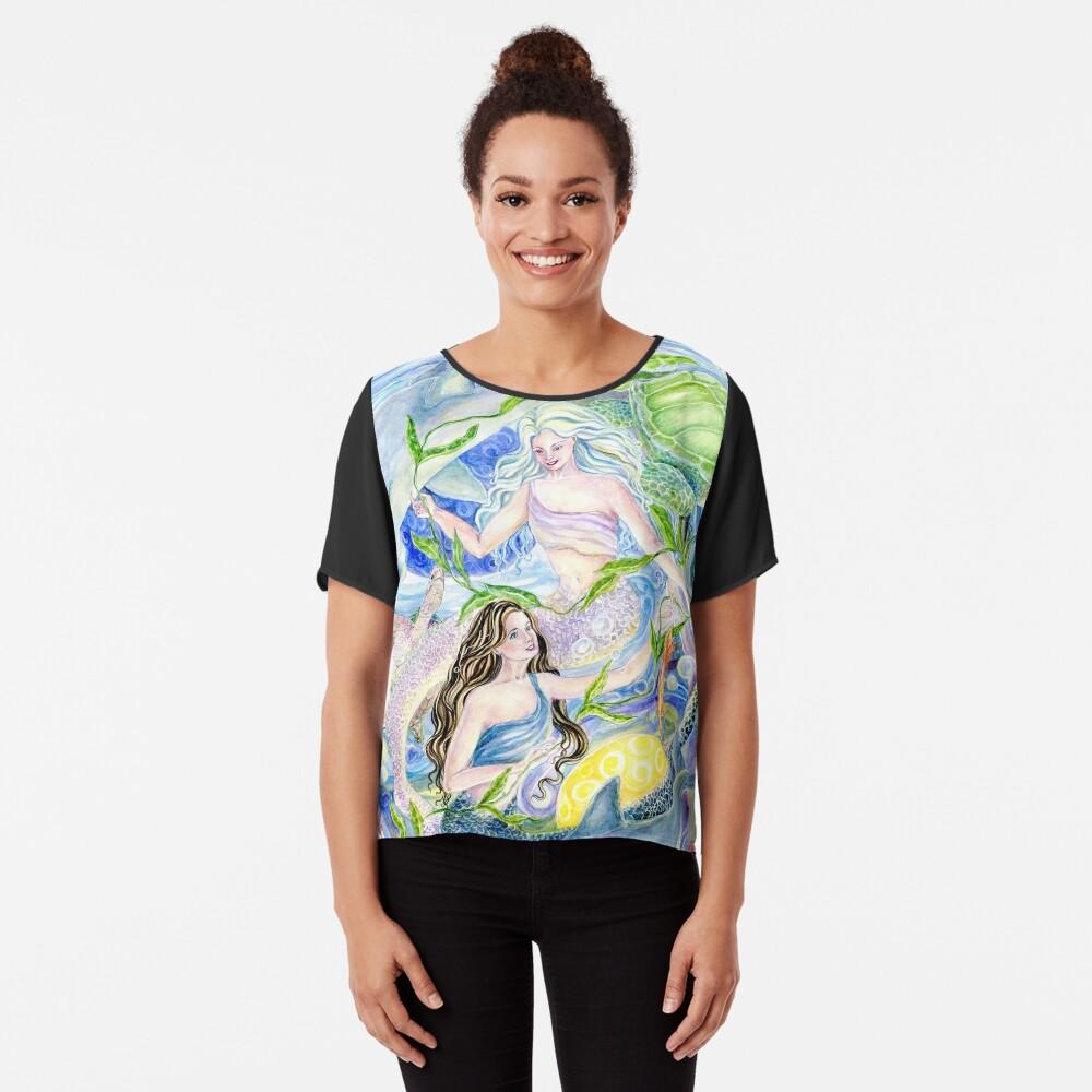 Yin Yang Meerjungfrauen Chiffon Top