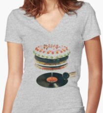Let it Bleed Women's Fitted V-Neck T-Shirt