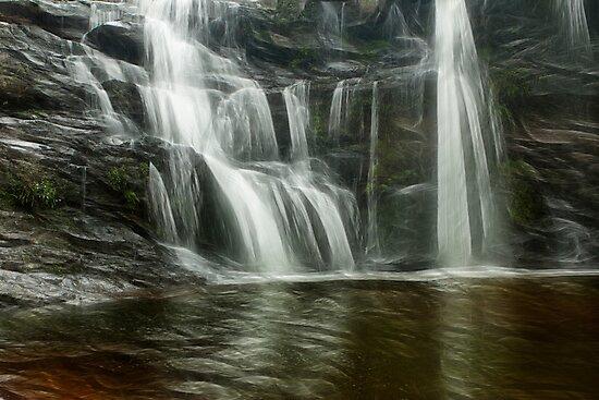 Waterfall art by Peter Wickham