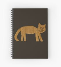 Simple cat Spiral Notebook