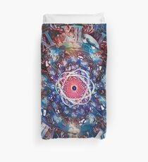 Space, time and atom Duvet Cover