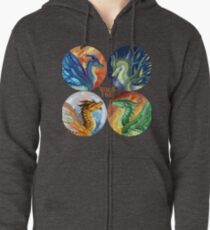 Wings of Fire - Heroes of the Lost Continent Zipped Hoodie