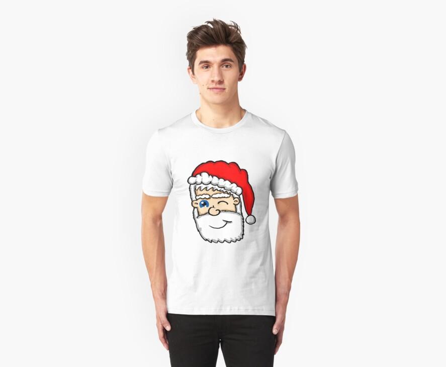 Winking Santa  by Rajee
