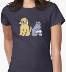 Good Dog Bad Cat Fitted T-Shirt