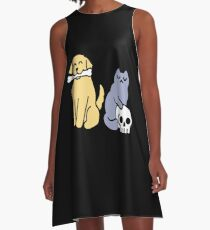 Good Dog Bad Cat A-Line Dress