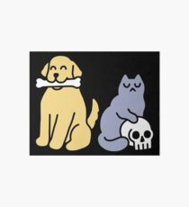 Good Dog Bad Cat Art Board Print