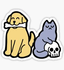 Good Dog Bad Cat Sticker