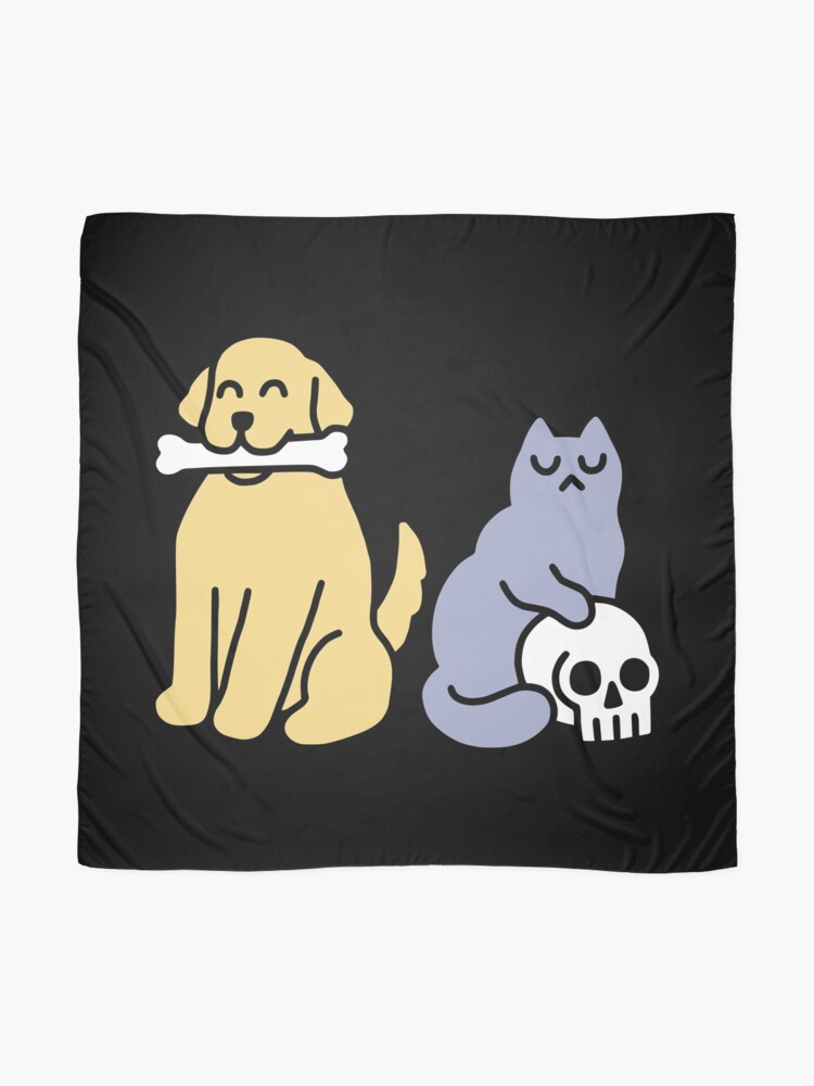 Alternate view of Good Dog Bad Cat Scarf