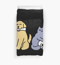 Good Dog Bad Cat Duvet Cover