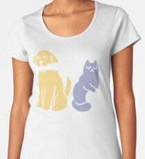 Good Dog Bad Cat Premium Scoop T-Shirt
