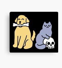 Good Dog Bad Cat Canvas Print