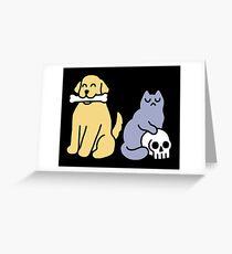 Good Dog Bad Cat Greeting Card