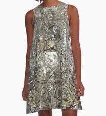 Steampunk Space Transport A-Line Dress