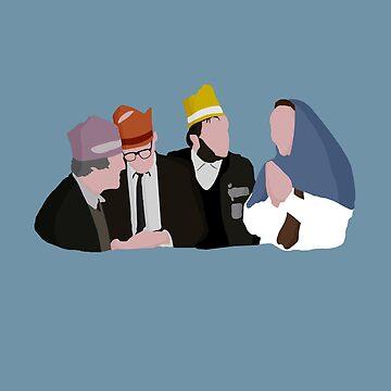 Bottom 'Three Kings and Mary' Xmas Design by davidspeed