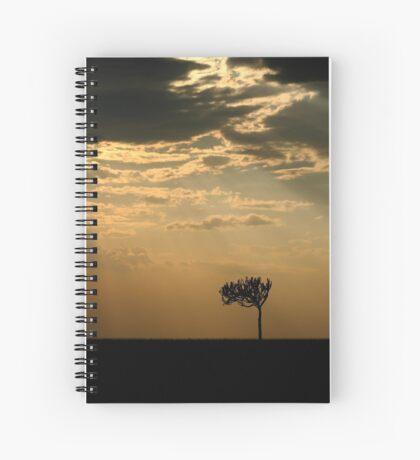 Sunset Over Masai Mara, Kenya Spiral Notebook