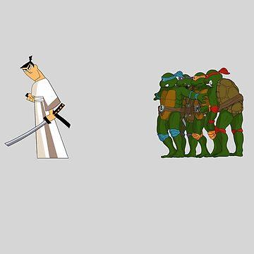 Samurai Jack meets the Turtles - No BG by mattskilton