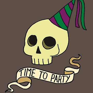 Time to Party Skull by QueenHare