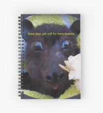 Batzilla Batties are batty for bananas!  Spiral Notebook