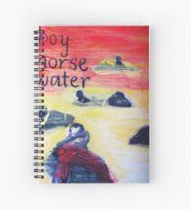 boy horse water Spiral Notebook