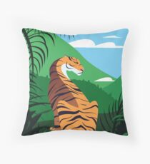Tropical tiger Floor Pillow
