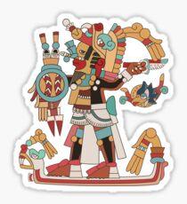Pegatina Guerrero azteca [vector]