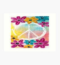 Floral Peace Art Print