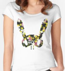 Floral BAP Bunny Women's Fitted Scoop T-Shirt