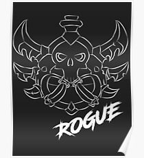 Rogue Crest (White) Poster
