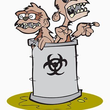 Zombie Barrel of Monkeys by tedhealey