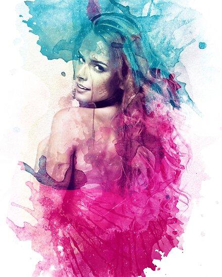 A Woman in Watercolor by barrettbiggers