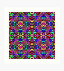Psychedelic Stained Glass Art Print