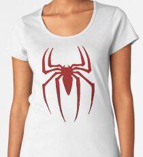 Spinnenlogo Premium Rundhals-Shirt