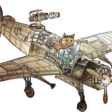 Flying Cat by felissimha