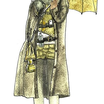 Steampunk Yellow Umbrella Cat by felissimha