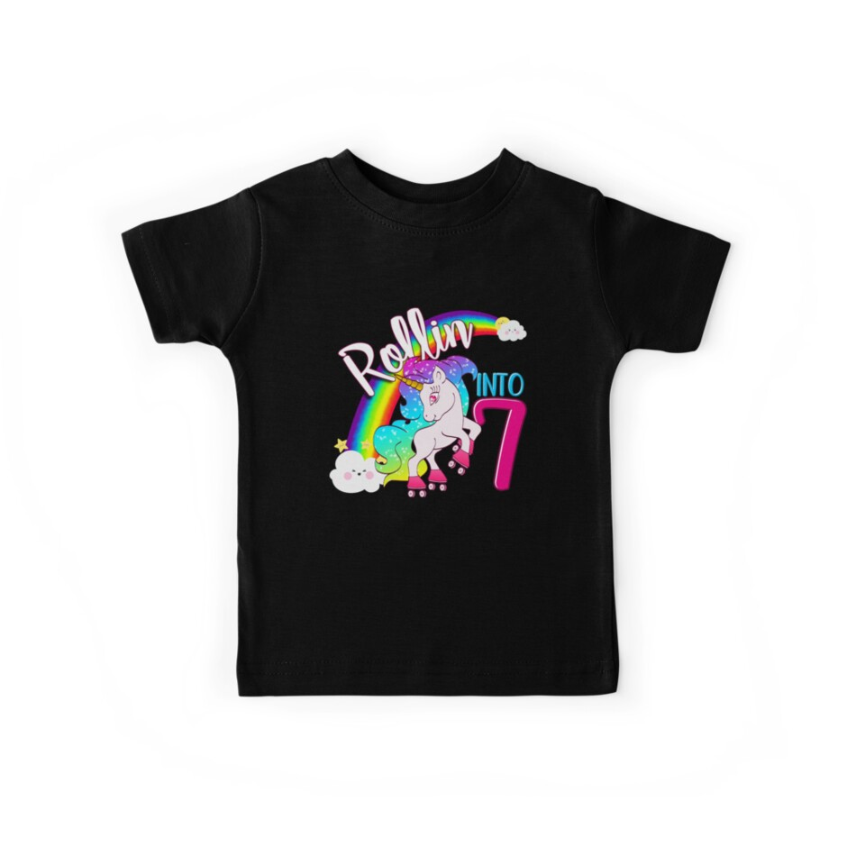 Unicorn 7th Birthday Shirt For Kids