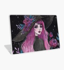 Magische Pfingstrosenhexe Laptop Folie