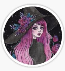 Magische Pfingstrosenhexe Sticker