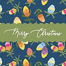 Australiana Christmas Card Banksias by thatsgraphic
