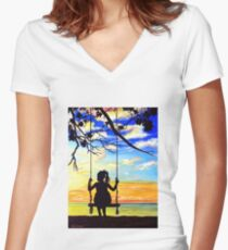 Forever Young Fitted V-Neck T-Shirt