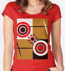 Dorothea Retro Tailliertes Rundhals-Shirt