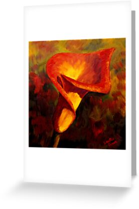 Fiery Calla Lily by sesillie